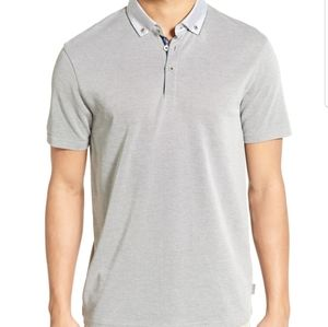 Ted Baker London Missow Trim Fit Pique Polo